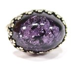 Ring vintage cabochon lila silber