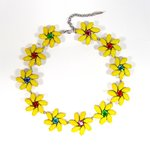 Collier Flora navette marquise gelb