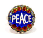 Ring 18mm altsilber peace